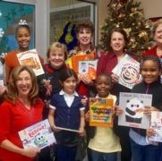 285 books were given to K,1st, and 2nd graders at E.A. Jones Elementary on Dec. 8, 2016.jpg